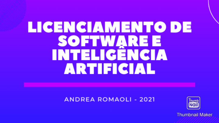 Curso de Licenciamento de Software e Inteligência Artificial