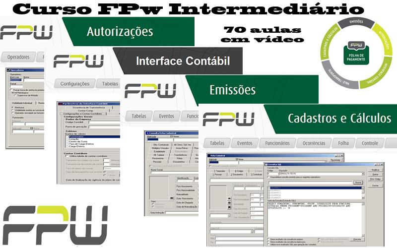 Curso FPw Intermediário (Cadastro e Cálculos, Emissões, Interface Contábil e Autorizações)