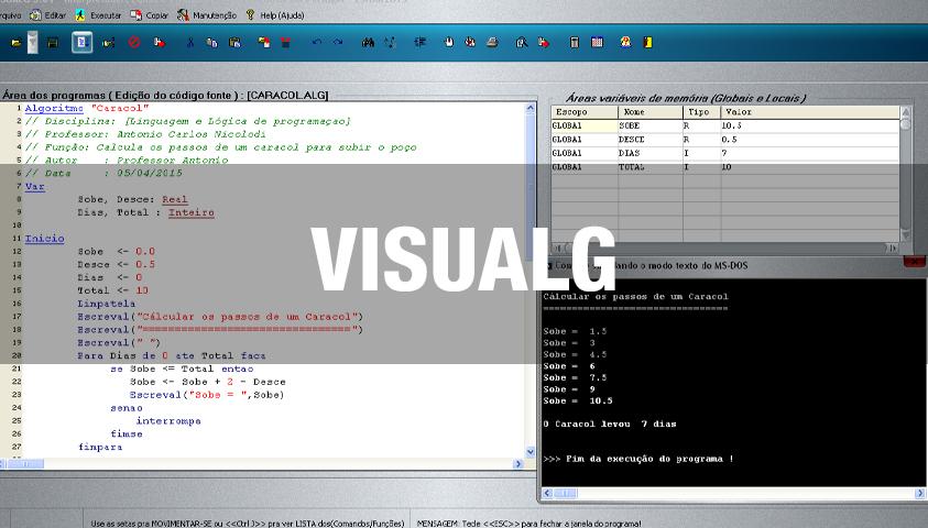 Curso de Lógica de Programação com Visualg