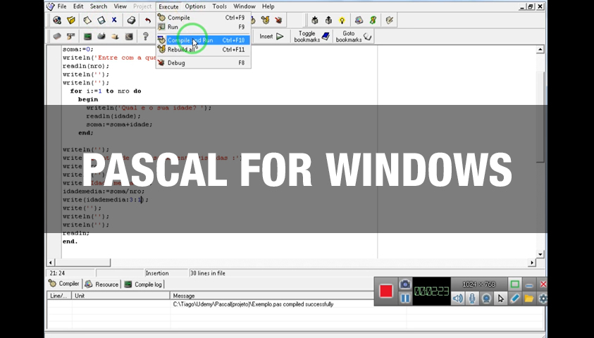 Curso de Básico de Pascal for Windows